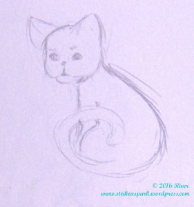 Cat sketch watermark version