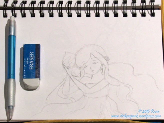 Conch Shell's Song sketch watermark version