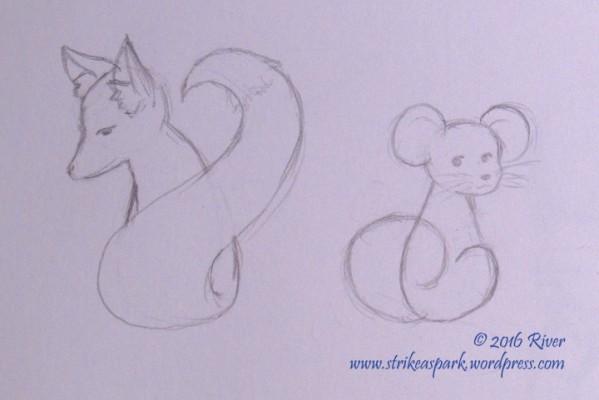 Fox n Mouse Sketch Watermark version