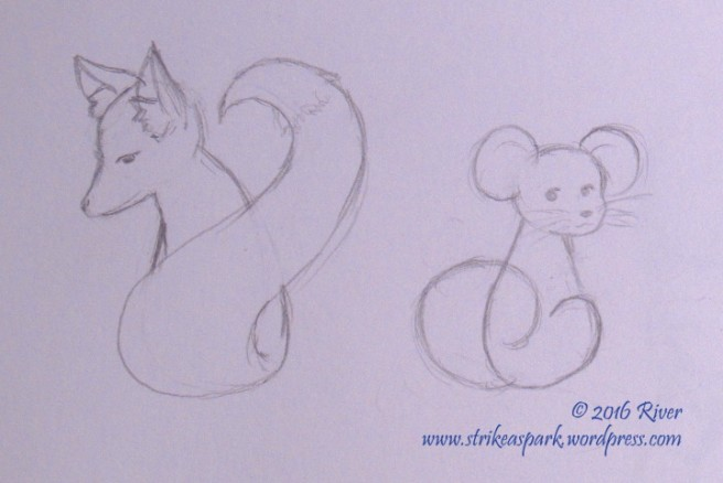 Fox n Mouse Sketch Watermark version