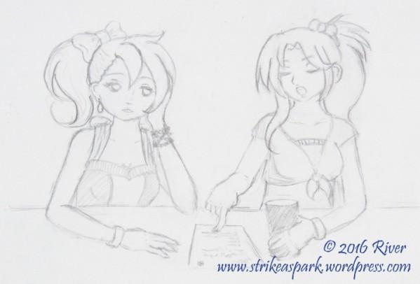 On Break sketch watermark