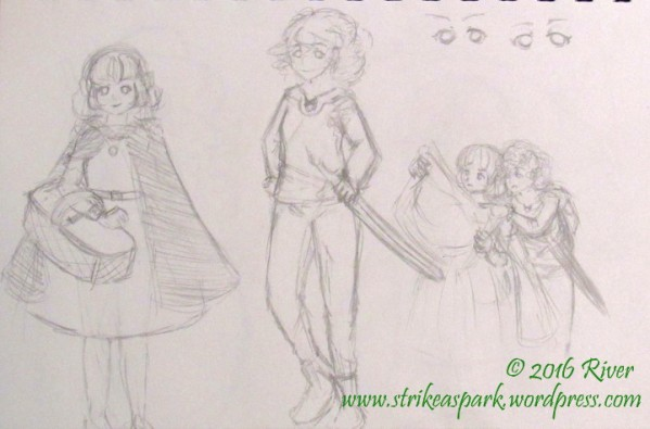 Penny and Francine concept sketch watermarked