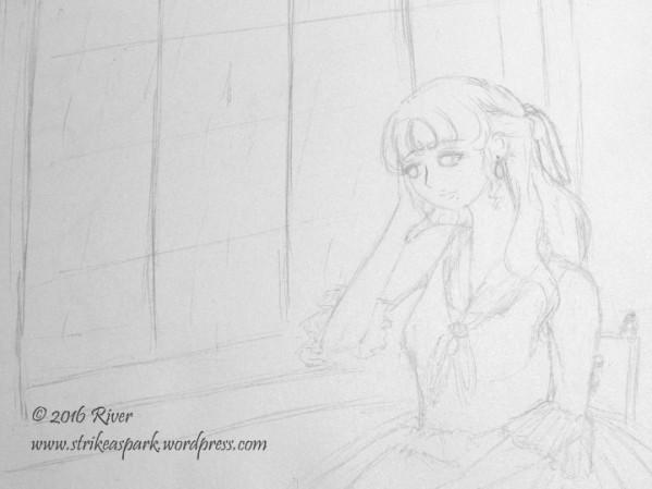 Pensive Sketch watermark version