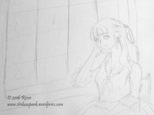 Pensive Sketch watermark version