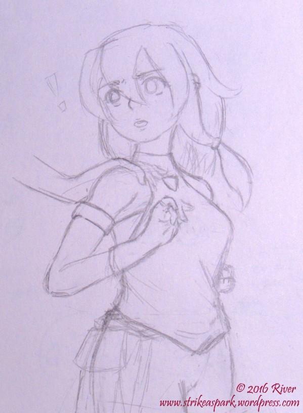 Startled sketch watermarked