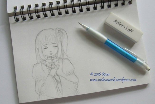 A Gentle Wish Sketch Watermarked