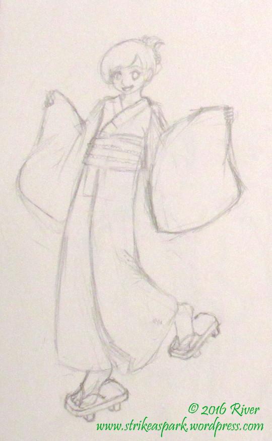 Yukata sketch watermarked