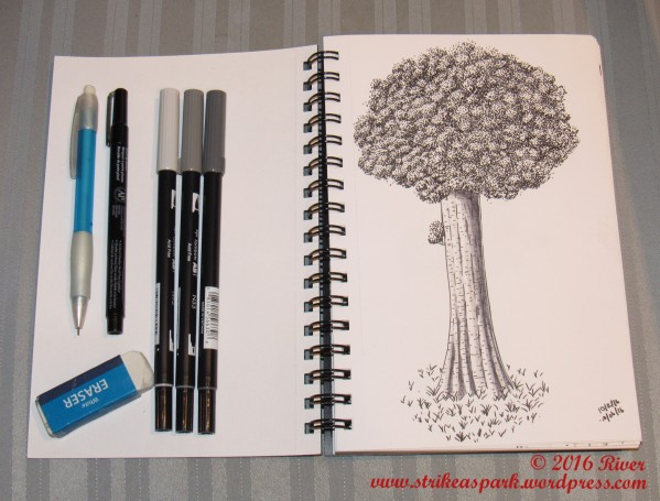 Inktober Days 2-4: Tree