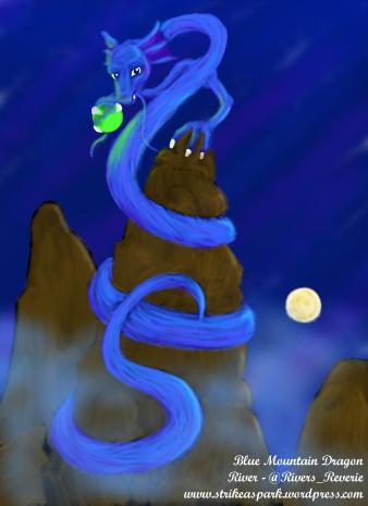 Blue Mountain Dragon by River