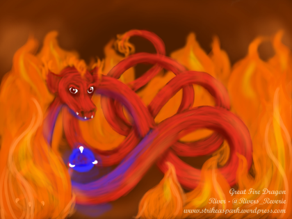 Great Fire Dragon by River