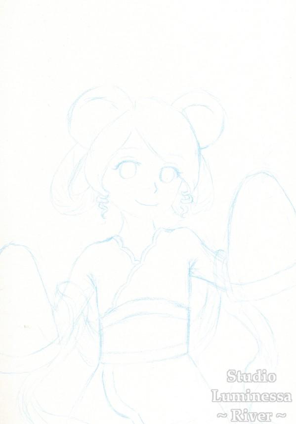 Caran d'Ache Blue Pencil Review Cloud sketch edited