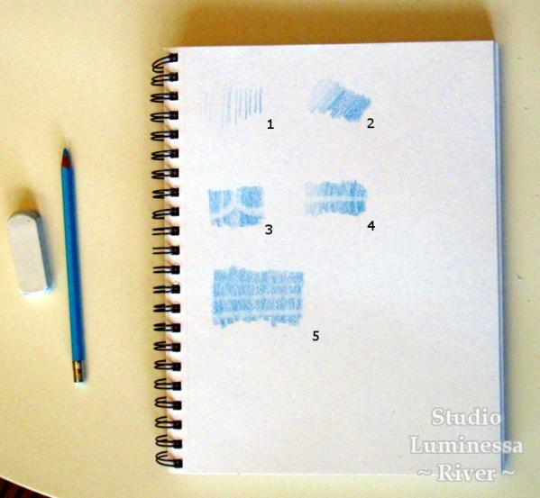 Caran d'Ache Blue Pencil Test Page