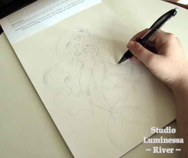 Mermaid Chibi Cloud Sketch by River