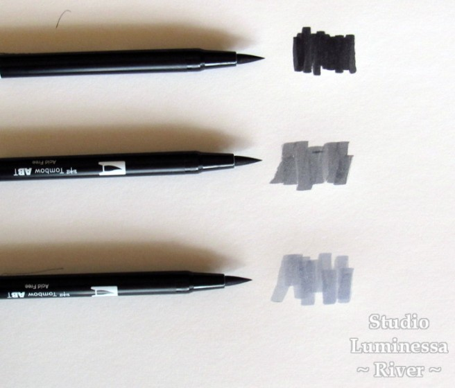 Tombow Dual-Brush Pens Brush Tip Example