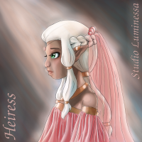 "Digital Painting ""Heiress"" - Finished!"