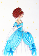 Inktober 8 Ballgown small version
