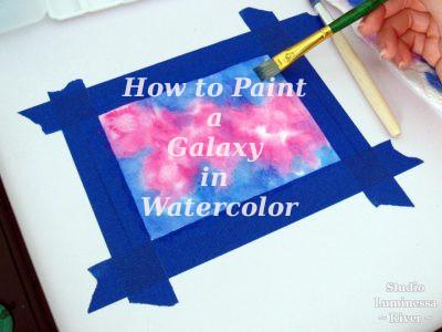 How to Paint a Galaxy in Watercolor - A Tutorial by River on Strike A Spark