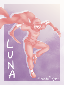 Draw Everything June: Flying (Small Version) - character art of Luna from Rondo of the Rising Sun (#RondoProject)
