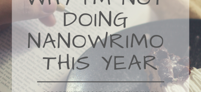 Short answer: Because I want to take a break this year. Read on for the long answer. . . .