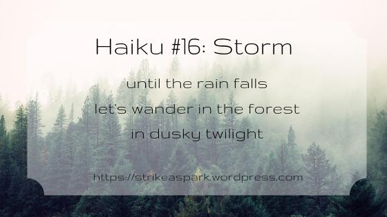 Storm (Haiku #16) by River