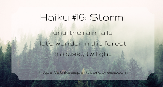 Storm (Haiku #16) by River