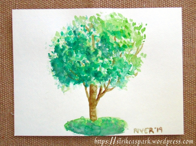 Tree in Watercolor